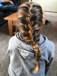 I wanted this coloring so it would look pretty in braids.